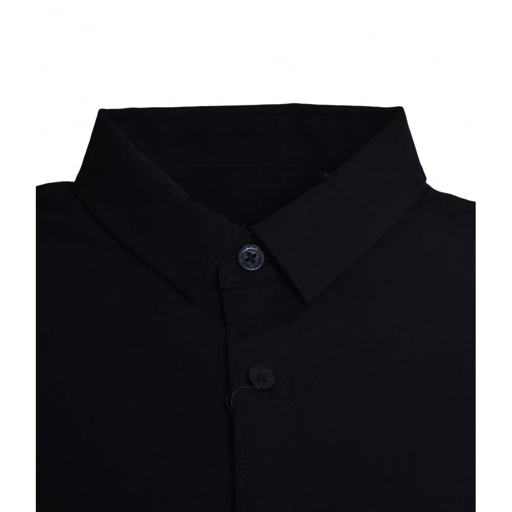 611bea4ae36 Armani Exchange Men  039 s Black Slim Fit Long Sleeved Shirt