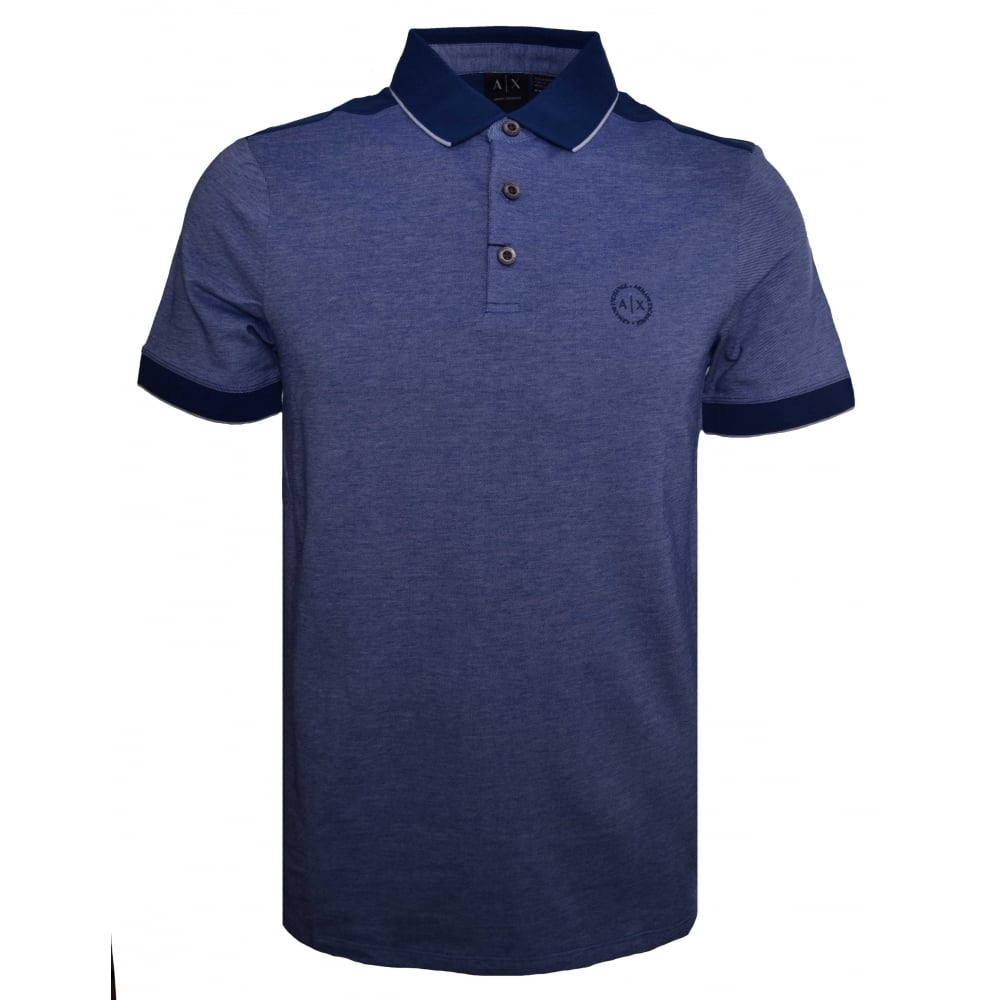 3708f88c8 Armani Exchange Men  039 s Blue Polo Shirt