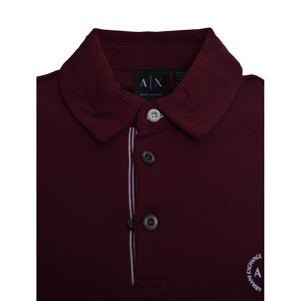 c56a14288bc0 Armani Exchange Men  039 s Burgundy Polo Shirt