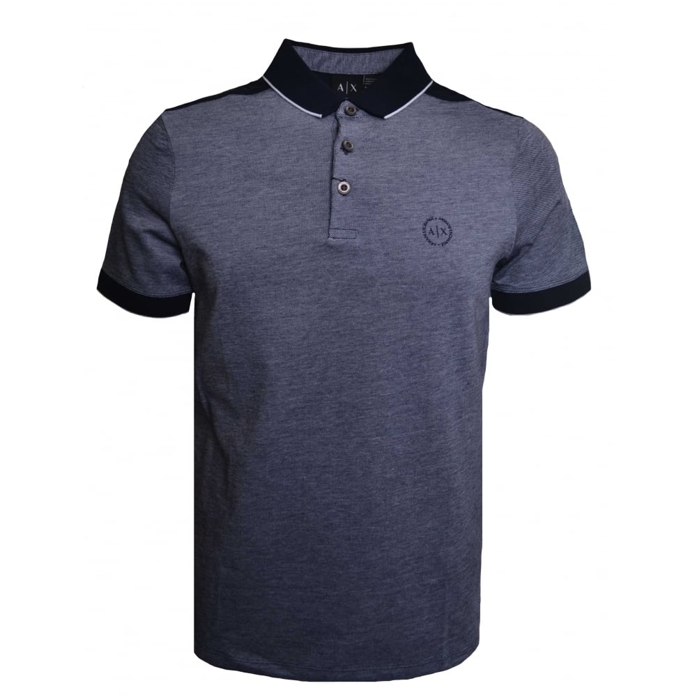 b283b29a99 Armani Exchange Men  039 s Navy Blue Polo Shirt
