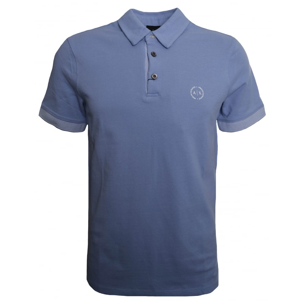 f6c4b80282b9 Armani Exchange Men  039 s Sky Blue Polo Shirt