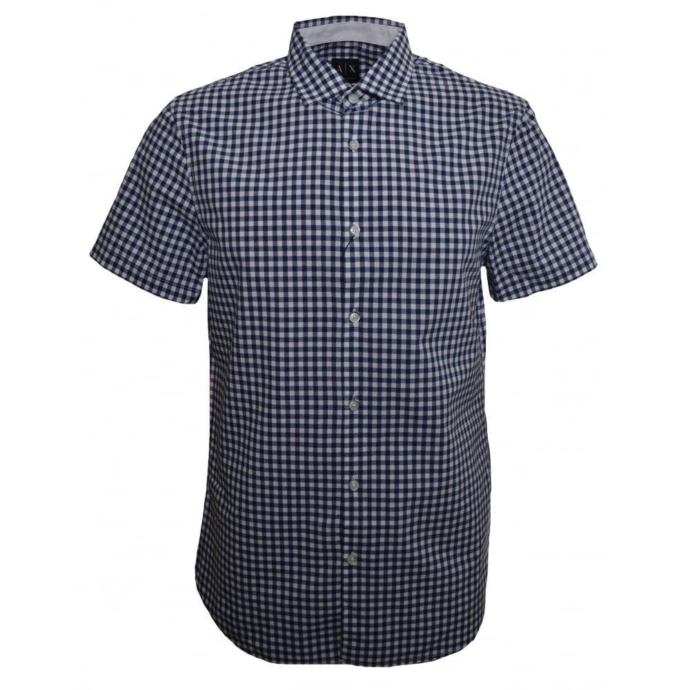 929c4d97067 Armani Exchange Men  039 s Slim Fit Gingham Check Shirt
