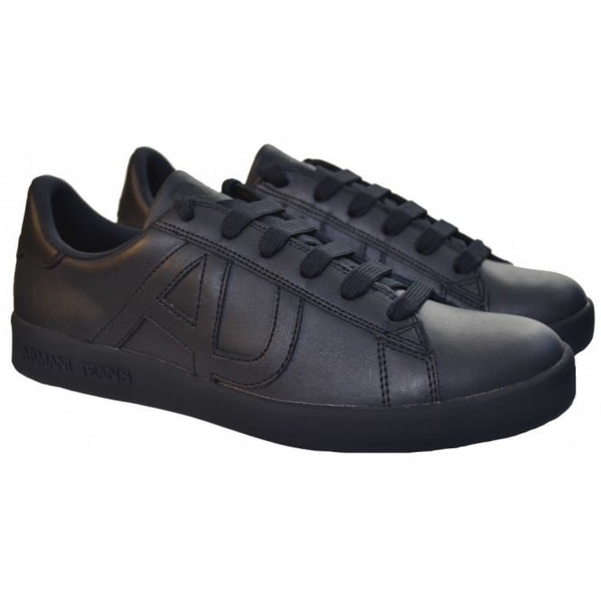 569415203c6 armani jeans men s navy blue leather trainers