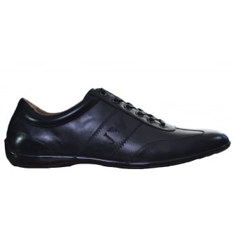 Armani Jeans Mens Black Classic Trainers