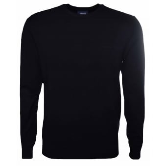 Armani Jeans Mens Black Crew Neck Jumper