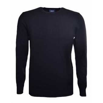 Armani Jeans Men's Black Elbow Patch Jumper