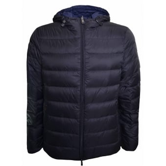 Armani Jeans Men's Black Reversible Puffer Jacket