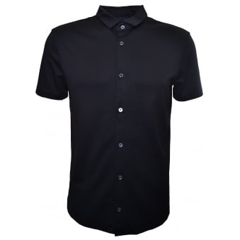 Armani Jeans Men's Black Short Sleeve Shirt