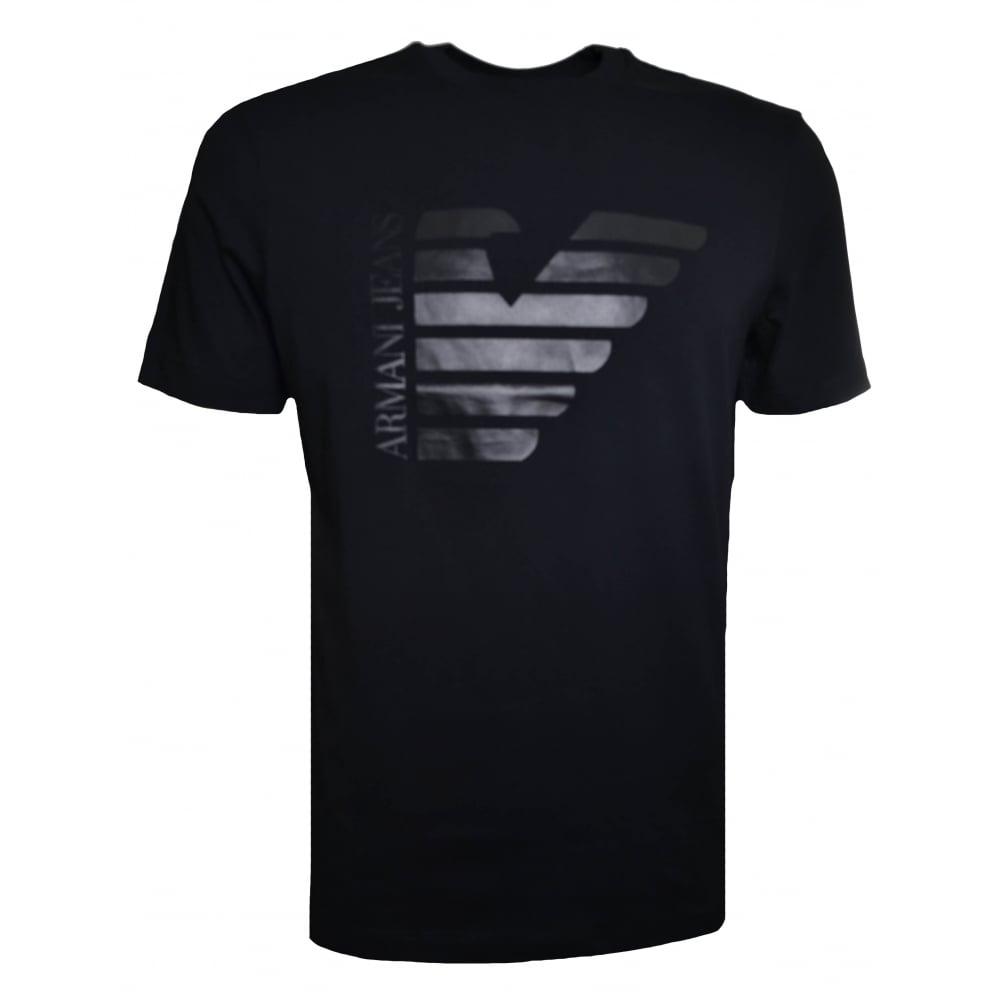 Men's Black T Jeans Armani Shirt IWD92EHY
