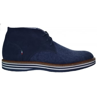 Armani Jeans Men's Blue Canvas Boots
