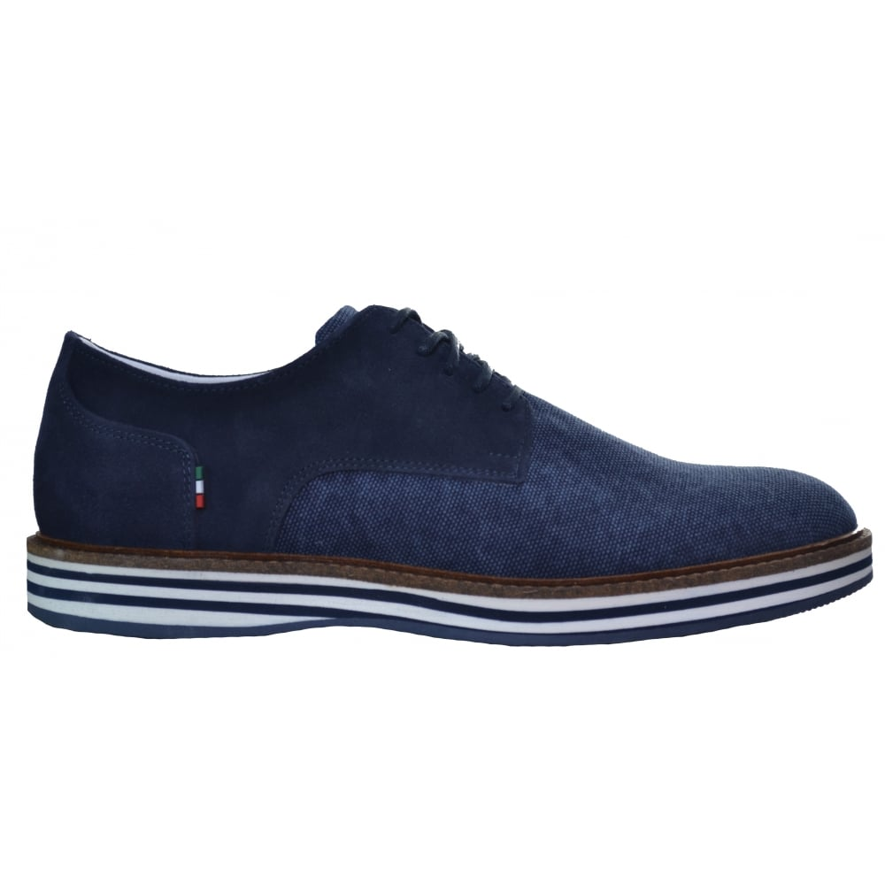 armani s blue canvas shoe