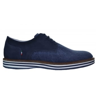 Armani Jeans Men's Blue Canvas Shoe