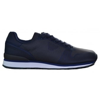 Armani Jeans Men's Blue Graphite Trainers