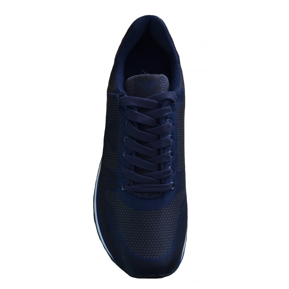 2f0415be136 Armani Jeans Men  039 s Blue Graphite Trainers