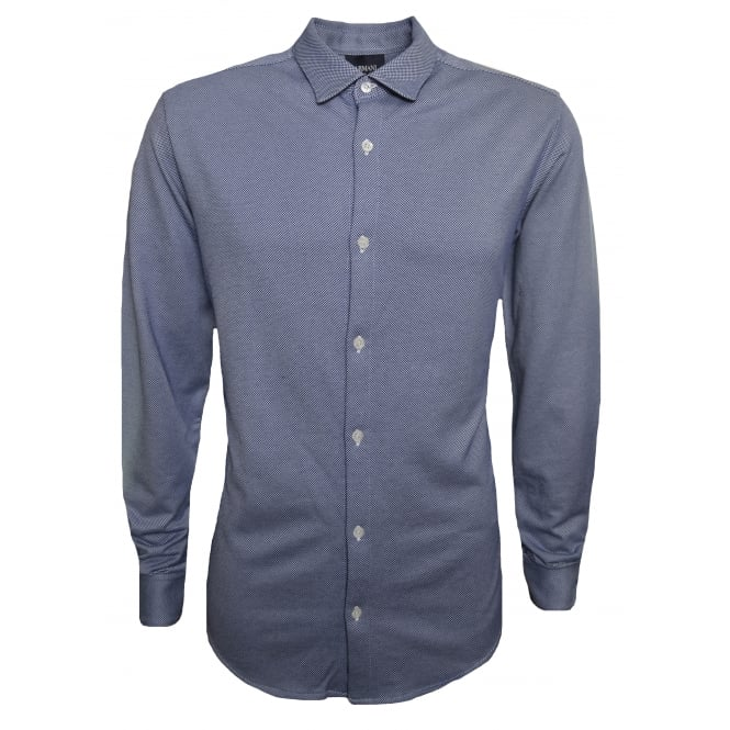 Armani Jeans Men's Blue Long Sleeved Shirt
