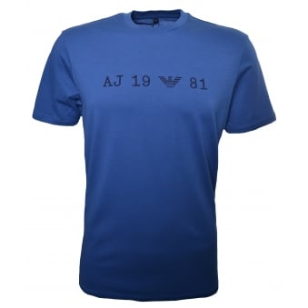Armani Jeans Men's Blue Short Sleeve T-Shirt