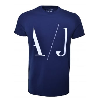 Armani Jeans Men's Blue T-Shirt