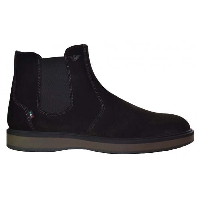 Armani Jeans Men's Brown After Dark Chelsea Boots