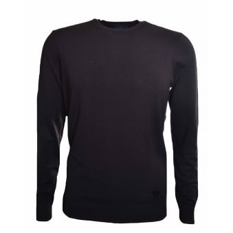 Armani Jeans Men's Brown Elbow Patch Jumper