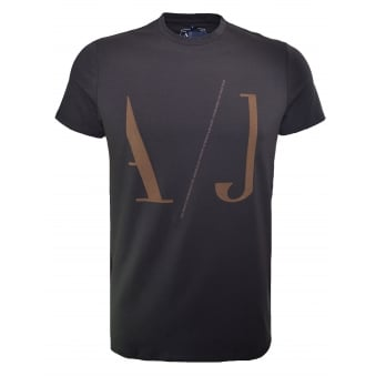 Armani Jeans Men's Brown T-Shirt
