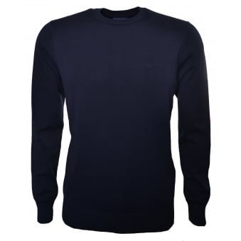 Armani Jeans Men's Dark Navy Blue Jumper