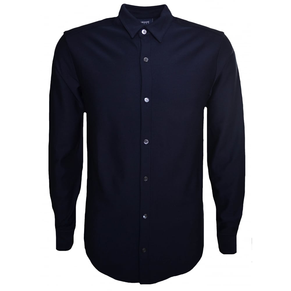 Armani Jeans Mens Navy Blue Shirt