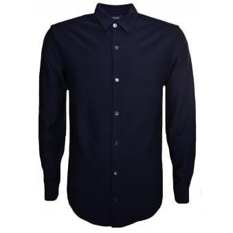 Armani Jeans Men's Dark Navy Blue Long Sleeved Shirt