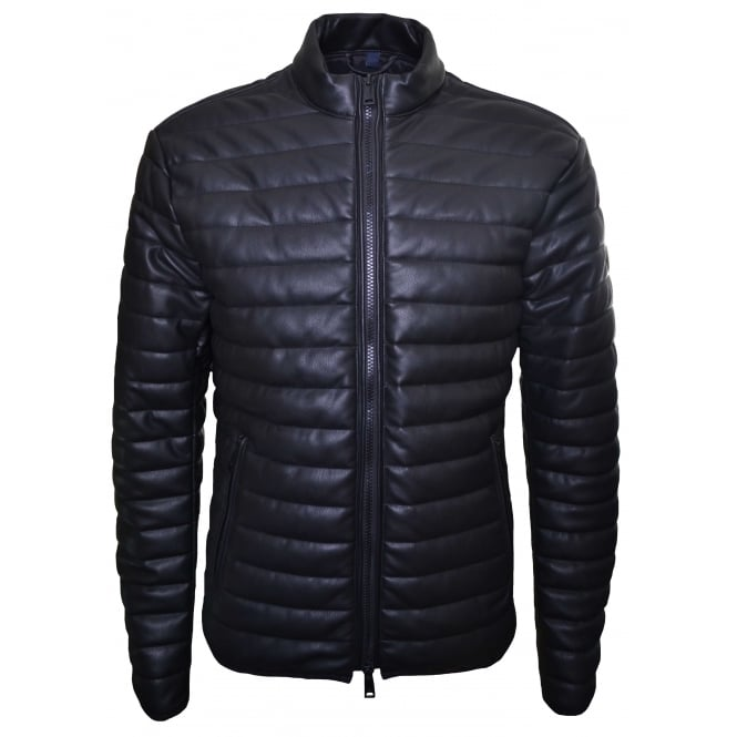 Armani Jeans Men's Eco Leather Black Jacket