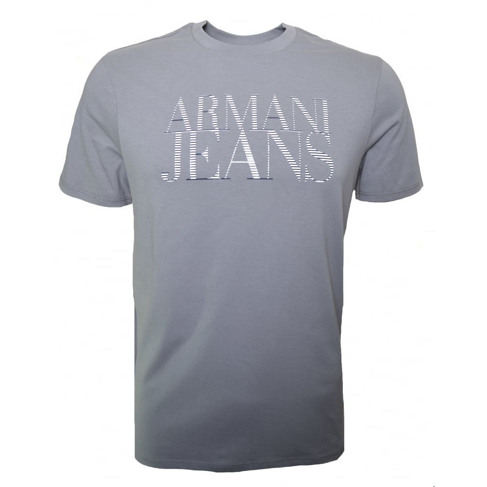 86e475fd Armani Jeans Men's Grey Crew Neck T-Shirt