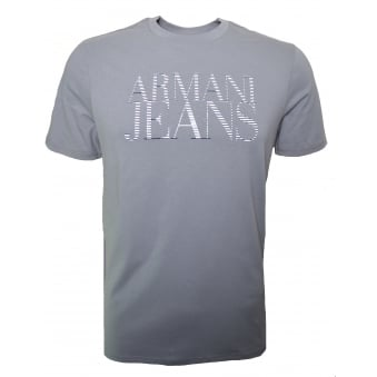 Armani Jeans Men's Grey Crew Neck T-Shirt
