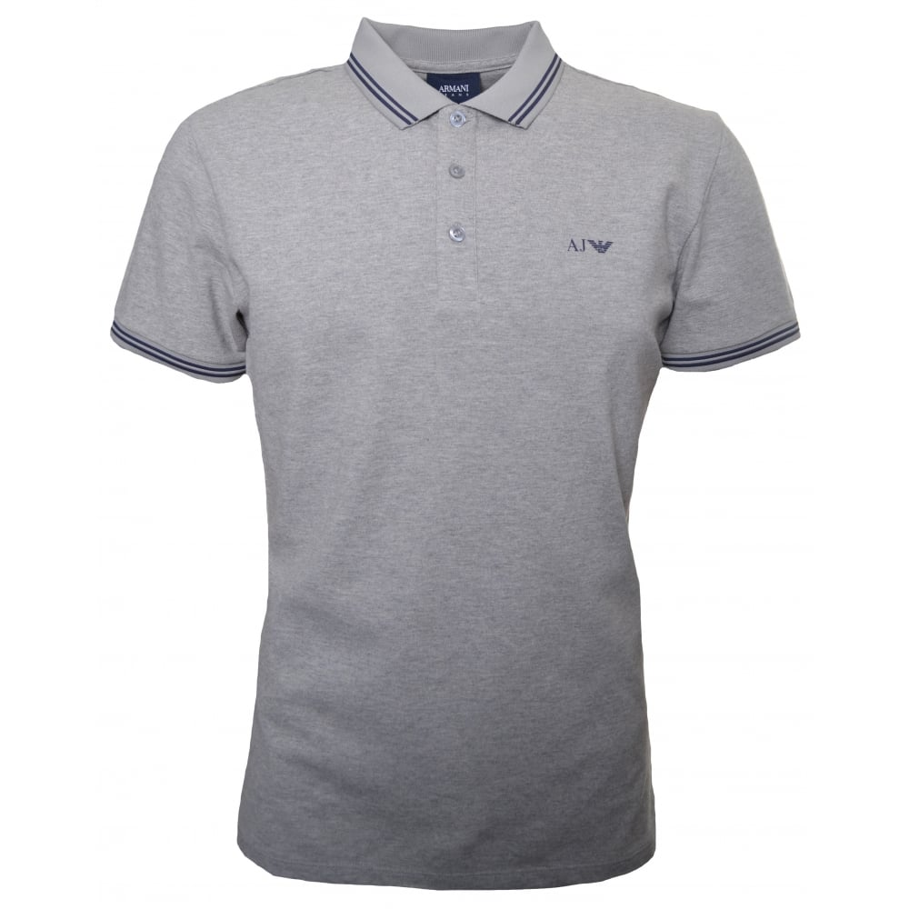 Black t shirt armani - Armani Jeans Men 039 S Grey Polo Shirt
