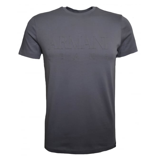 Armani Jeans Men's Grey T-Shirt