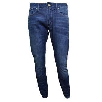 Armani Jeans Men's J06 Slim Fit Blue Denim Jeans