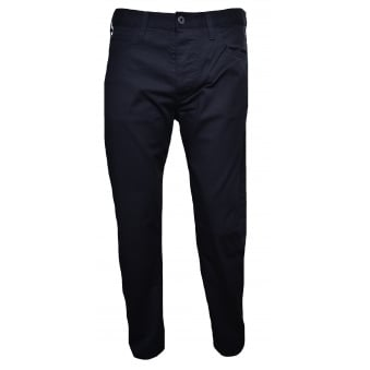 Armani Jeans Men's J21 Regular Fit Black Chinos