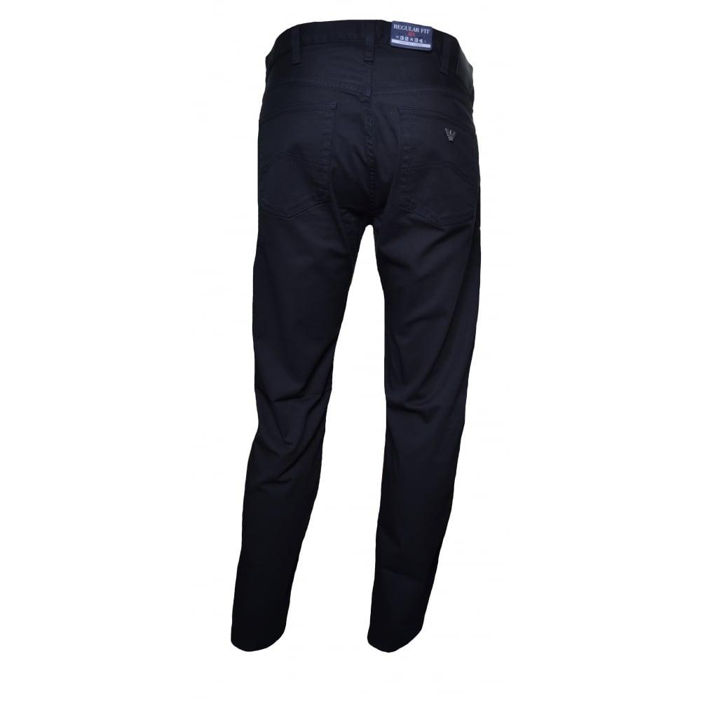 Armani Jeans Men  039 s J21 Regular Fit Black Chinos 83320ec99