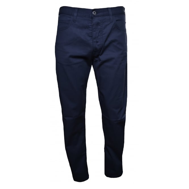 Armani Jeans Men's J21 Regular Fit Navy Blue Chinos