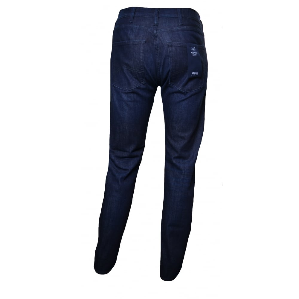 22acad2a Men's J45 Dark Blue Slim Fit Jeans