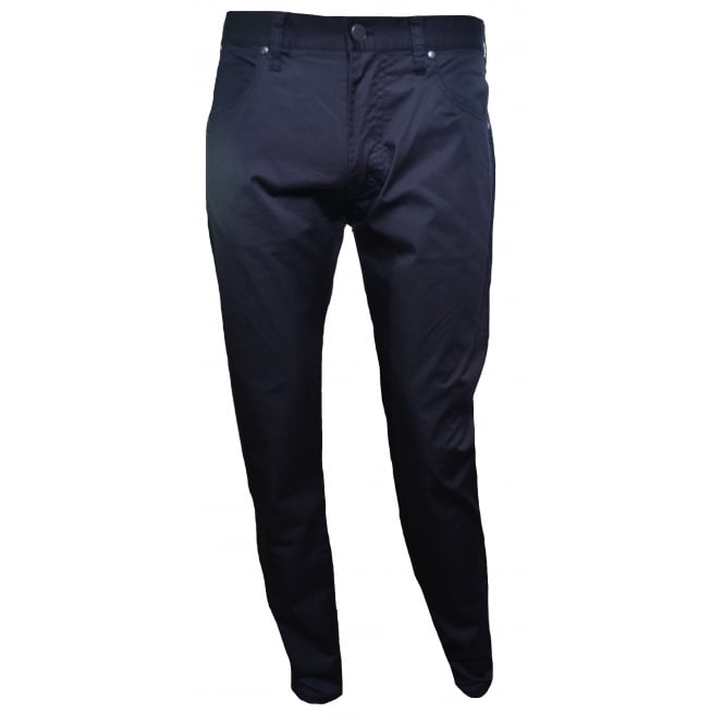 Armani Jeans Men's J45 Navy Blue Slim Fit Chino's