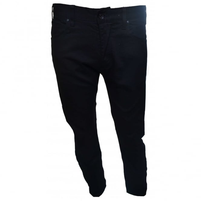 Armani Jeans Men's J45 Regular Fit Black Jeans