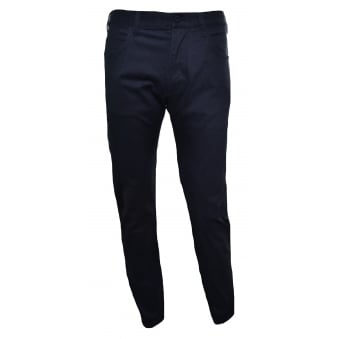 Armani Jeans Men's J45 Slim Fit Black Chinos
