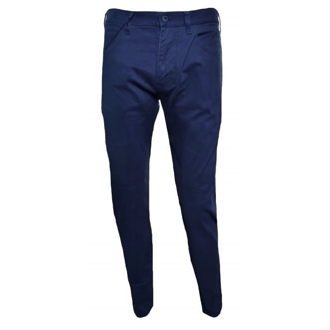 Armani Jeans Men's J45 Slim Fit Blue Chinos