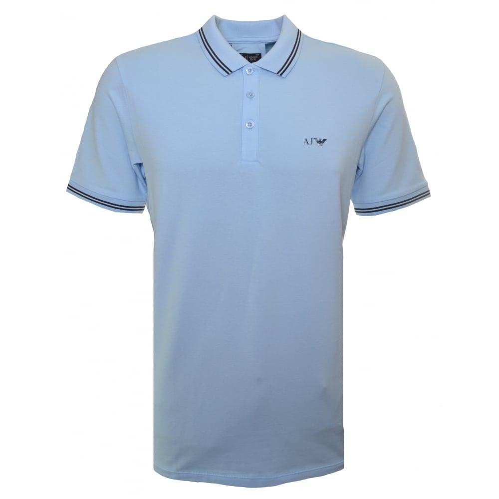 f278dd416136e Armani Jeans Men  039 s Light Blue Polo Shirt