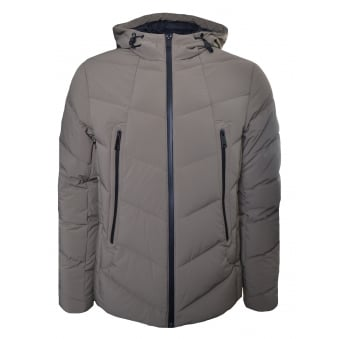 Armani Jeans Men's Marrone Chiaro Down Jacket