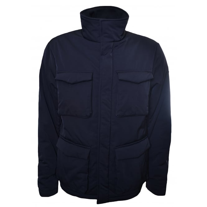 Armani Jeans Men's Navy Blue Caban Jacket