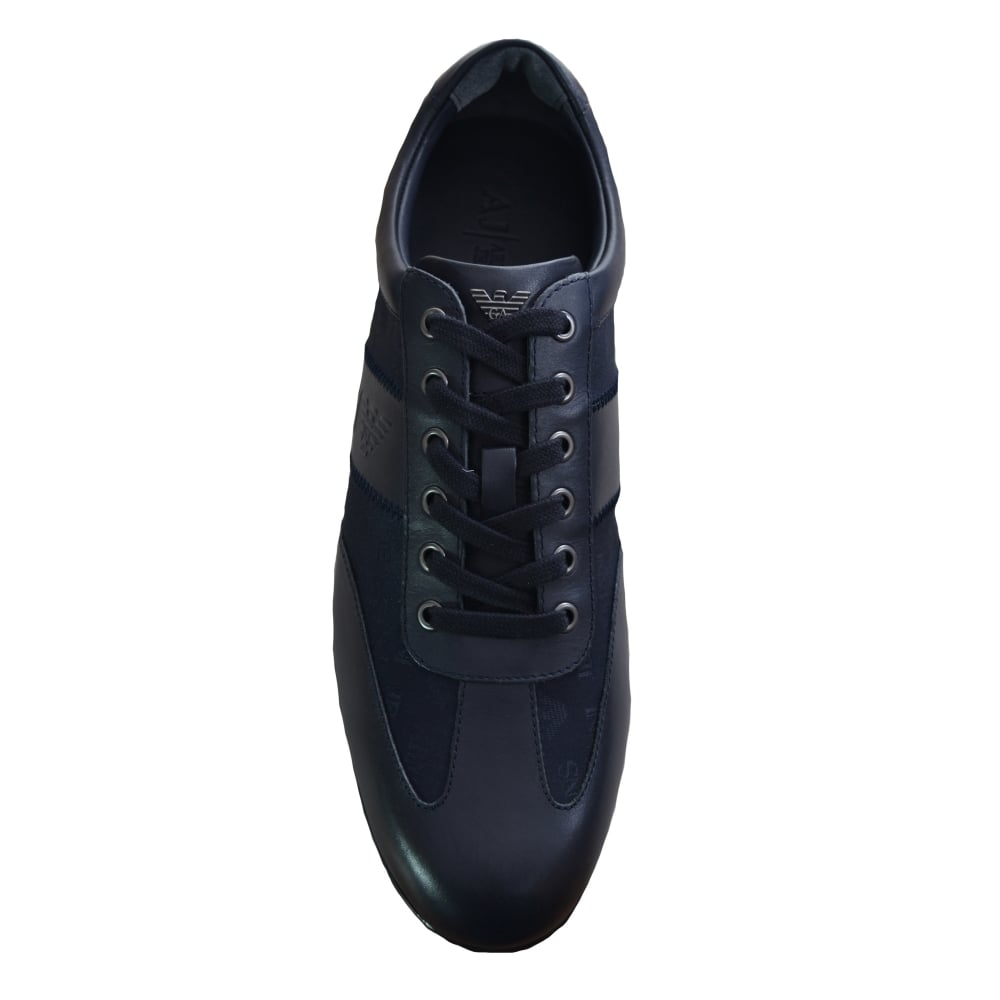 20c86146 Armani Jeans Armani Jeans Mens Navy Blue Classic Trainers