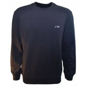 Armani Jeans Men's Navy Blue Comfort Fit Sweatshirt