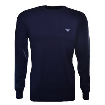 Armani Jeans Men's Navy Blue Jumper