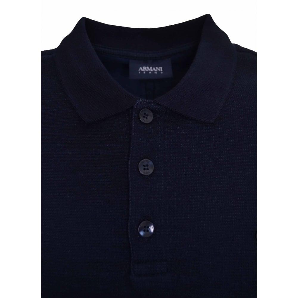 33b54a736d Armani Jeans Men's Navy Blue Long Sleeved Polo Shirt