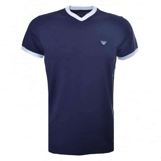 official shop shopping enjoy discount price Armani Jeans Armani Jeans Men's Navy Blue Plain T-Shirt