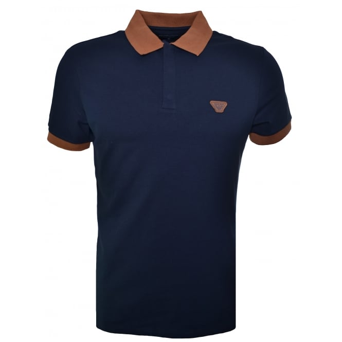 Armani Jeans Men's Navy Blue Polo Shirt